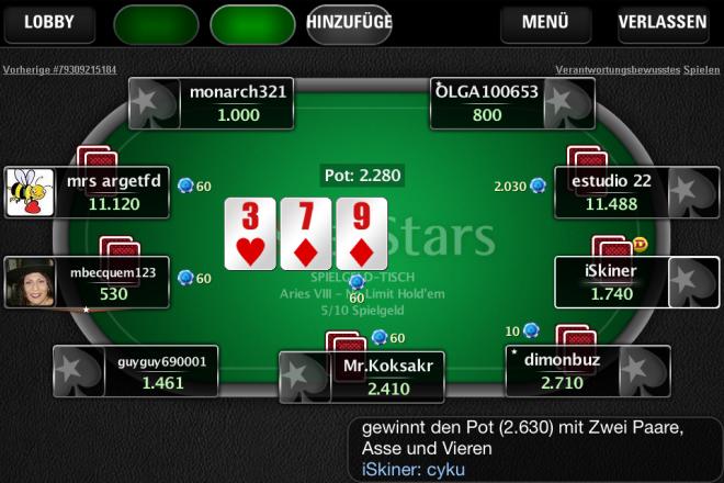 на онлайн покер планшет не