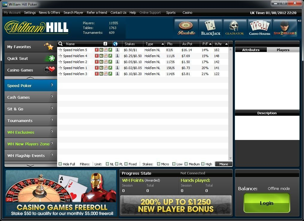 фото Покер william hill